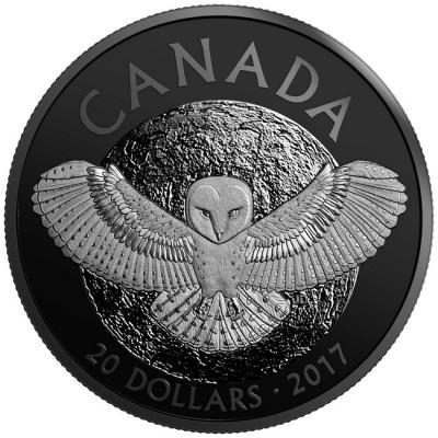 新品未使用 2017 カナダ メンフクロウ 銀貨 箱付き