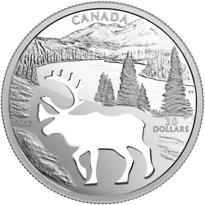 新品未使用 2017 カナダ  トナカイ 銀貨 箱付き