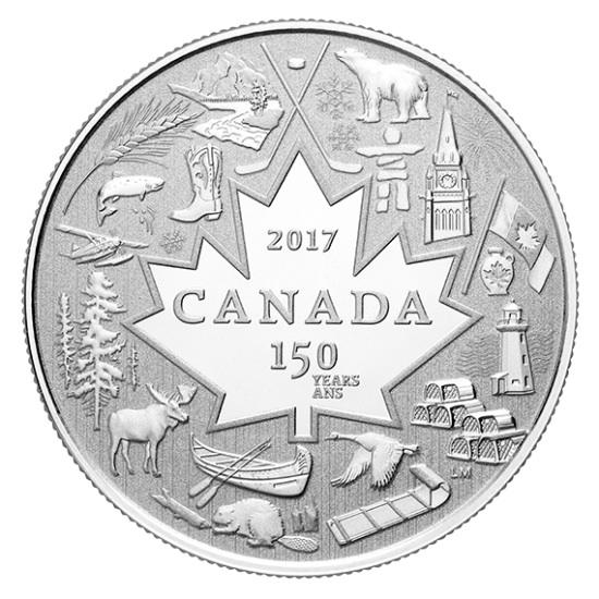 新品未使用 2017 カナダ 150周年 HEART OF OUR NATION  銀貨