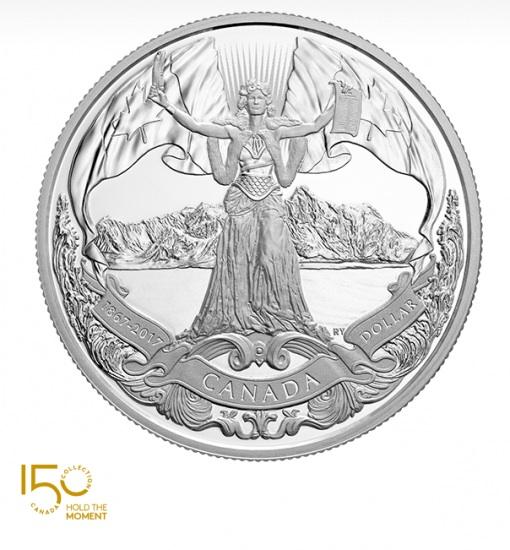 新品未使用 2017 カナダ 150周年Canadian Confederation  銀貨