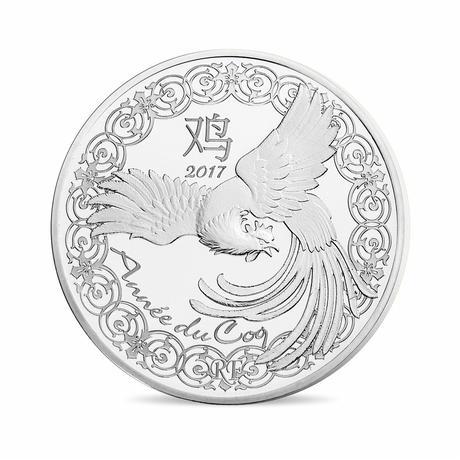 新品未使用 2017 フランス 鳥 銀貨 22.2g プルーフ