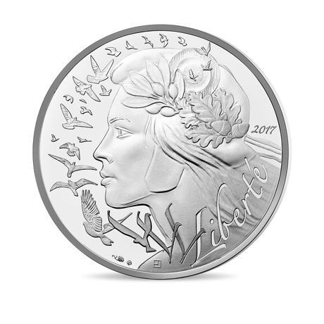 新品未使用 2017 フランス MARIANNE - TRILOGY LIBERTY 銀貨 18.0g