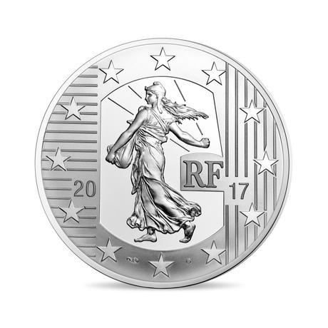 新品未使用 2017 フランス THE LOUIS D'OR 10EURO 銀貨 22.2g プルーフ