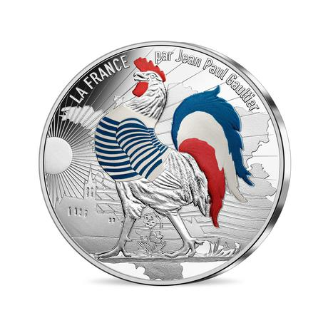 新品未使用 2017 フランス FRANCE BY JEAN PAUL GAULTIER 50€ 銀貨 41g