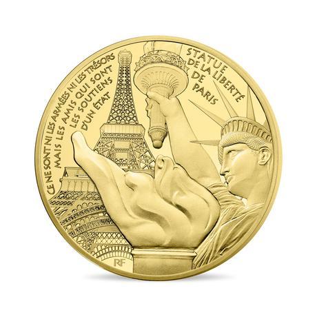 新品未使用 2017 フランス 金貨 1オンス STATUE OF LIBERTY プルーフ