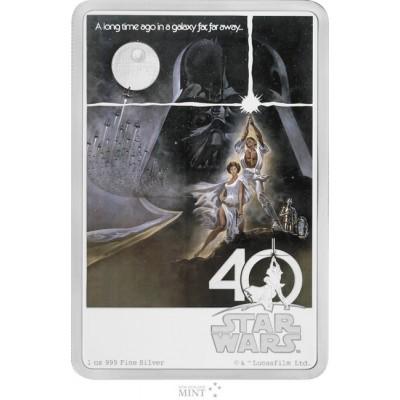 新品未使用 2017 オーストラリア 1オンス銀貨 2ドル スターウォーズ Star Wars(40TH ANNIVERSARY) (箱と説明書付)