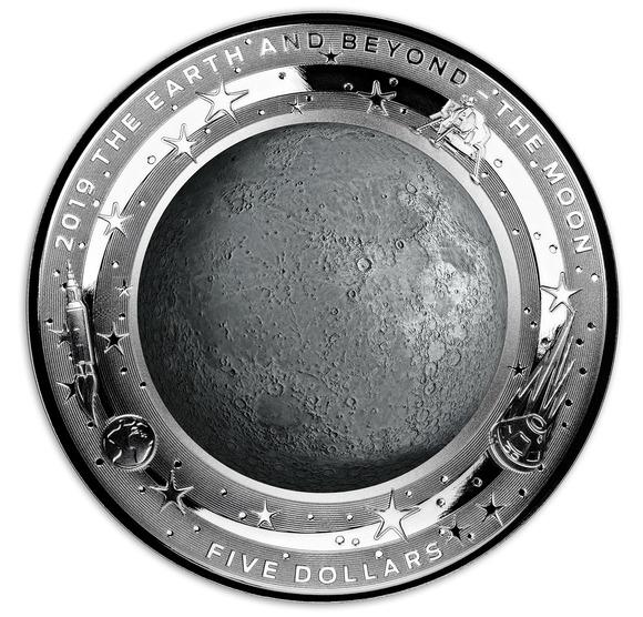 2019 オーストラリア 地球とその彼方:月 銀貨 1オンス  プルーフ 箱とクリアケース付き 新品未使用