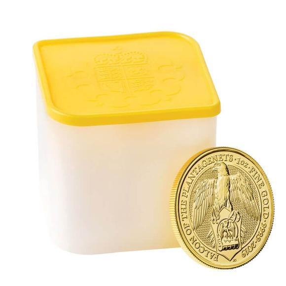 2019 イギリス クィーンズビースト:プランタジネット家の隼 金貨 1オンス 10枚セット コインチューブ付き 新品未使用