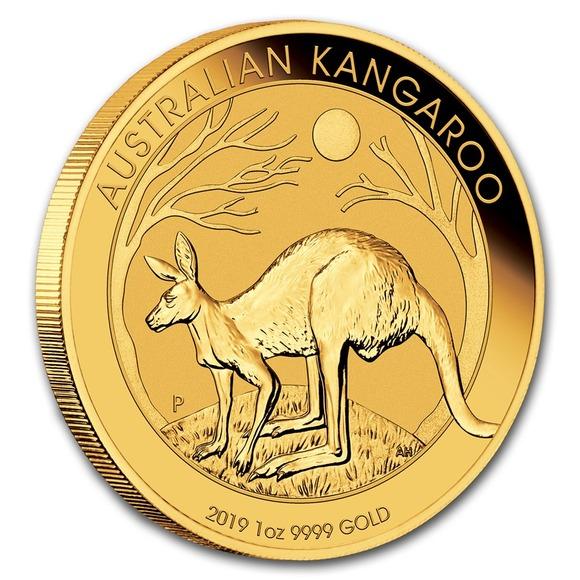 2019 オーストラリア カンガルー金貨 1オンス 32mmクリアケース付き 新品未使用