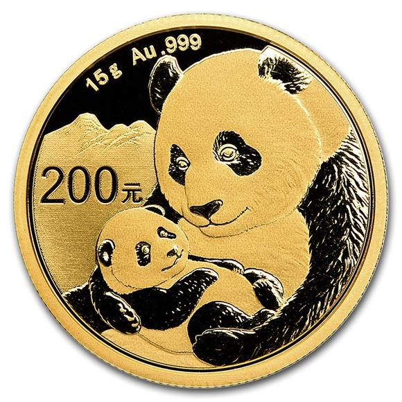 2019 中国 パンダ 金貨 15グラム 200元 真空パック入り 新品未使用
