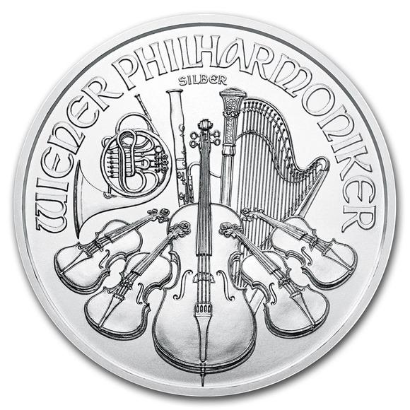 2019 オーストリア ウィーン銀貨 1オンス 5枚セット 37mmクリアーケース付き 新品未使用