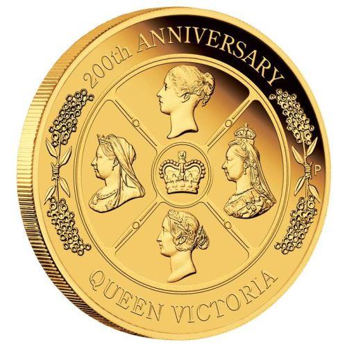 2019 オーストラリア ヴィクトリア女王生誕200周年記念 金貨 2オンス プルーフ 箱とクリアケース付き 新品未使用