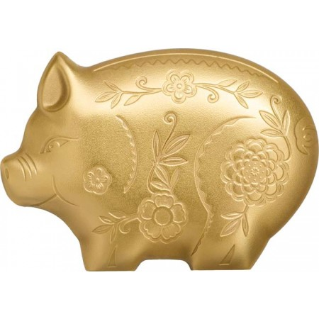 2019 モンゴル ジョリー・ピッグ 銀貨 1オンス 箱とクリアケース付き 新品未使用