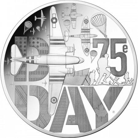2019 フランス ノルマンディー上陸作戦75周年 銀貨 プルーフ 箱とクリアケース付き 新品未使用