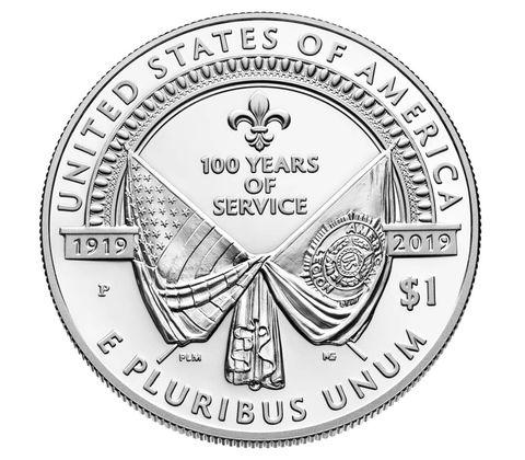 2019 アメリカ アメリカ在郷軍人会100周年記念 銀貨 プルーフ 箱とクリアケース付き 新品未使用