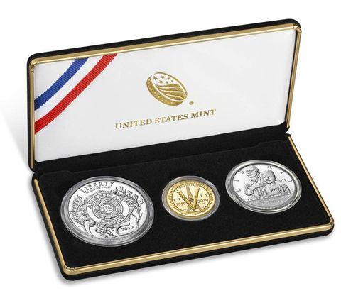 2019 アメリカ アメリカ在郷軍人会創立100周年記念 コイン3枚セット プルーフ 箱とクリアケース付き 新品未使用