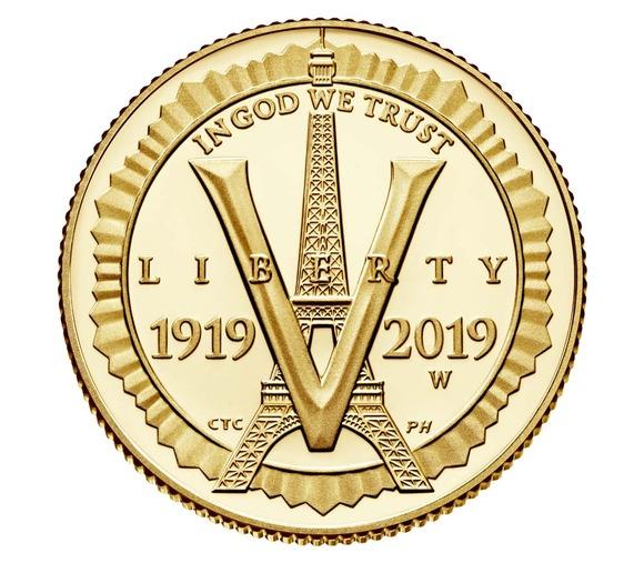 2019 アメリカ アメリカ在郷軍人会創立100周年記念 5ドル金貨 1/4オンス プルーフ 箱とクリアケース付き 新品未使用