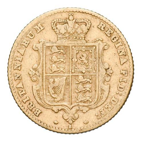 1871 オーストラリア ヴィクトリア女王ヤングヘッド シドニー製 半ソブリン 金貨 木箱付き