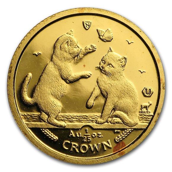 2004 マン島キャット金貨 1/25オンス トンキニーズ キャット  クリアーケース付き