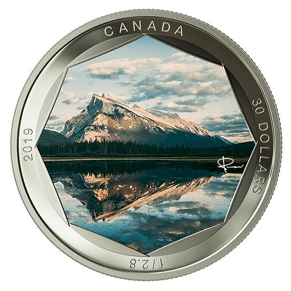 2019 カナダ ピーター・マッキノン写真シリーズ:ランドル山 銀貨 2オンス プルーフ 箱とクリアケース付き 新品未使用