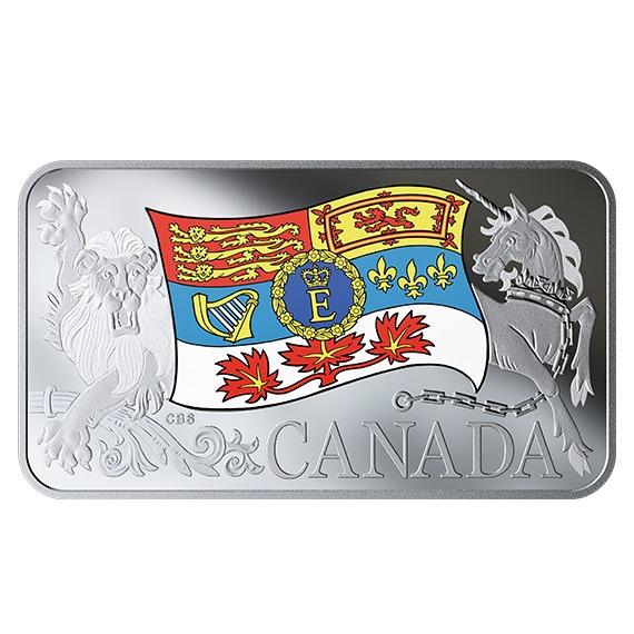 2019 カナダ エリザベス2世陛下のカナダ国王旗 銀貨 プルーフ 箱とクリアケース付き 新品未使用