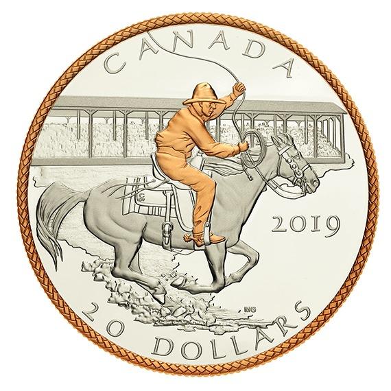 2019 カナダ ヴィクトリー・スタンピード100周年記念 銀貨 1オンス プルーフ 箱とクリアケース付き 新品未使用