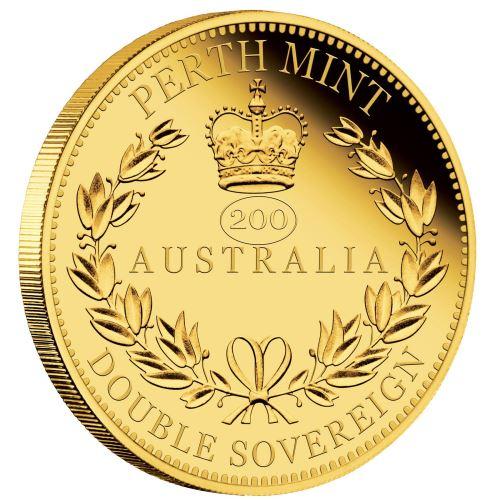 2019 オーストラリア ヴィクトリア女王生誕200周年ダブル・ソブリン 金貨 プルーフ 箱とクリアケース付き 新品未使用