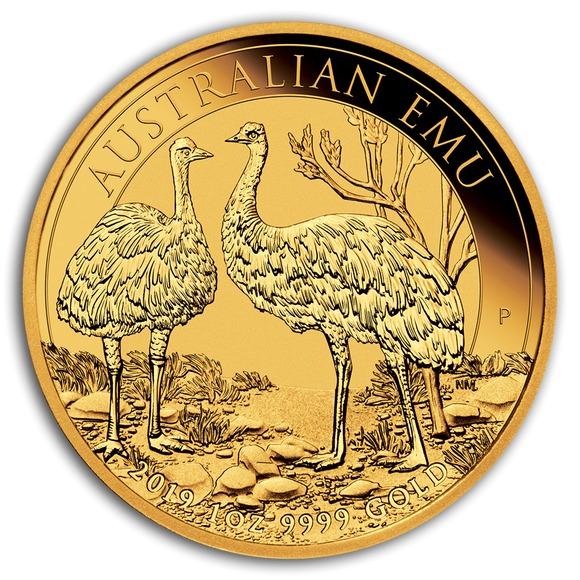 2019 オーストラリア エミュー 金貨 1オンス クリアケース付き 新品未使用