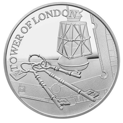 2019 イギリス 鍵の儀式 5ポンド銀貨 プルーフ 箱とクリアケース付き 新品未使用