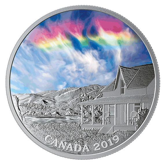 2019 カナダ 空の驚異:ファイアーレインボー 銀貨 1オンス プルーフ 箱とクリアケース付き 新品未使用