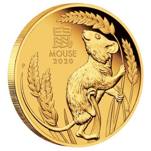 2020 オーストラリア 干支:子年 金貨 1オンス プルーフ 箱とクリアケース付き 新品未使用