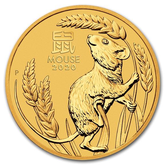 2020 オーストラリア 干支:子年 金貨 10オンス クリアケース付き 新品未使用