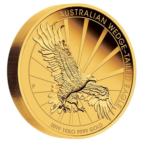 2019 オーストラリア オナガイヌワシ 金貨 1キロ プルーフ 箱とクリアケース付き 新品未使用
