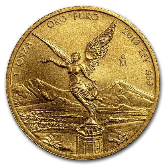 2019 メキシコ リベルタード 金貨 1オンス 34mmクリアケース付き 新品未使用