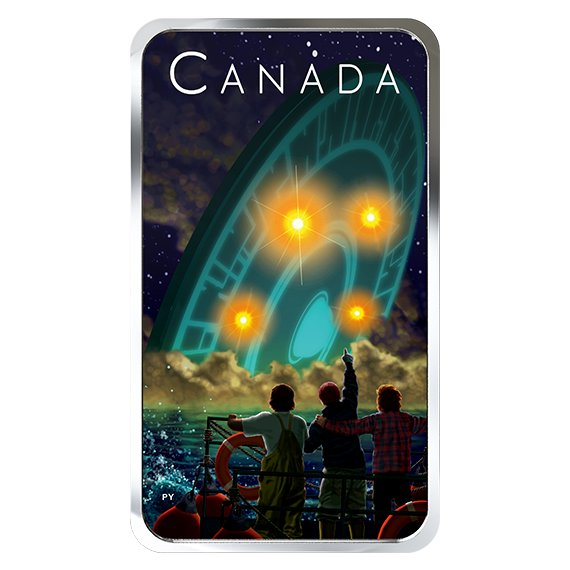 2019 カナダ カナダの未解明現象:シャング・ハーバー事件 銀貨 1オンス プルーフ 箱とクリアケース付き 新品未使用