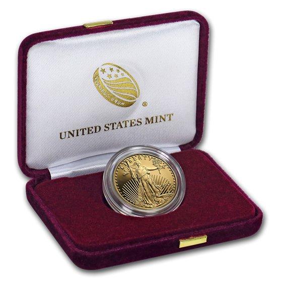 2019 アメリカ イーグル金貨 1/2オンス プルーフ 箱とクリアケース付き 新品未使用
