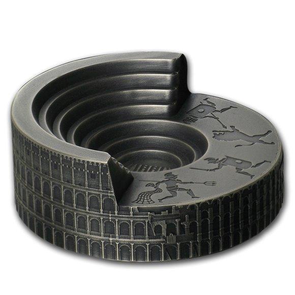 2019 ニウエ コロッセウム:アベ・カエサル 10ドル銀貨 4オンス アンティーク風ハイレリーフ 箱とクリアケース付き 新品未使用