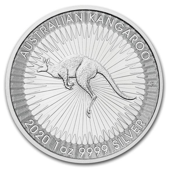 2020 オーストラリア カンガルー銀貨 1オンス 【5枚】セット 41mmクリアーケース付き 新品未使用