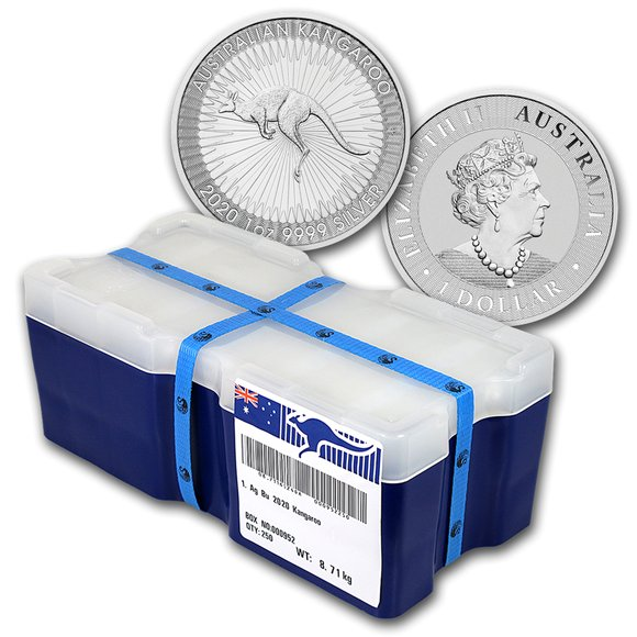 2020 オーストラリア カンガルー銀貨 1オンス 【250枚】セット モンスターBOX付き 新品未使用