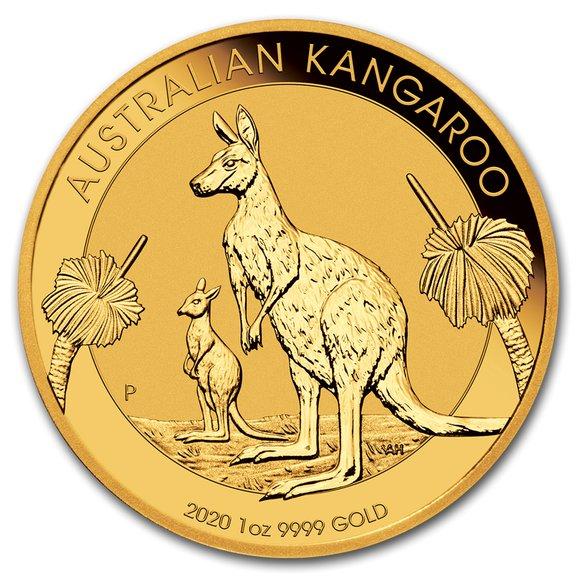 2020 オーストラリア カンガルー金貨 1オンス【5枚】セット 33mmクリアケース付き 新品未使用