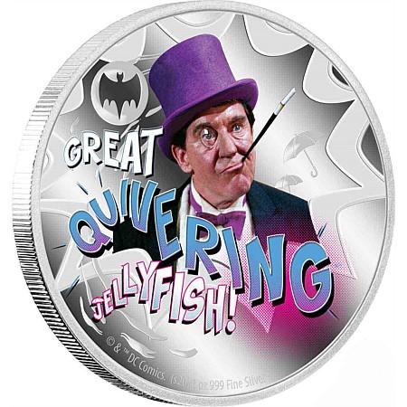 2020 ニウエ バットマン'66:ペンギン 銀貨 1オンス 彩色プルーフ 箱とクリアケース付き 新品未使用