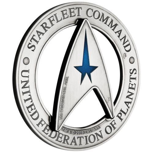 2019 ツバル スタートレック:宇宙艦隊司令部エムブレム 銀貨2枚セット 計3オンス プルーフ 箱とクリアケース付き 新品未使用