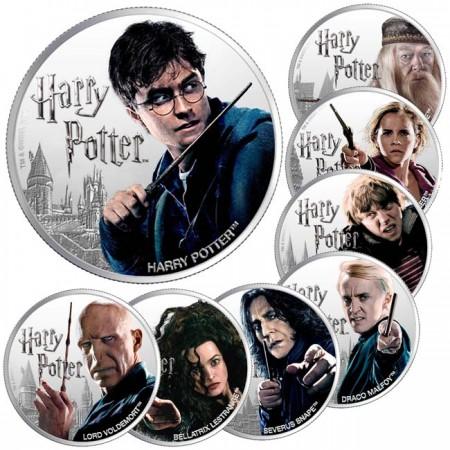 2020 フィジー ハリーポッターキャラクター 銀貨8枚セット 1オンス プルーフ 箱とクリアケース付き 新品未使用
