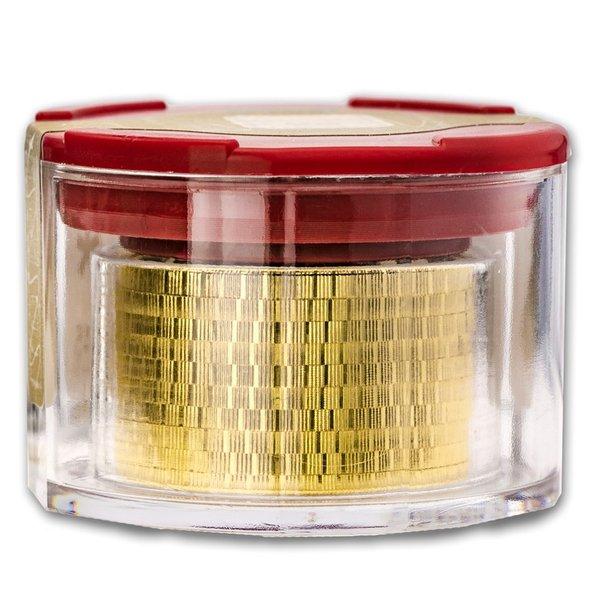 2020 オーストリア ウィーン金貨 1/2オンス 【10枚】セット(ミントロールと28mmクリアーケース付き) 新品未使用