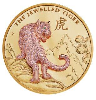 2020 オーストラリア 宝飾虎 2000ドル金貨 10オンス プルーフ 箱とクリアケース付き 新品未使用
