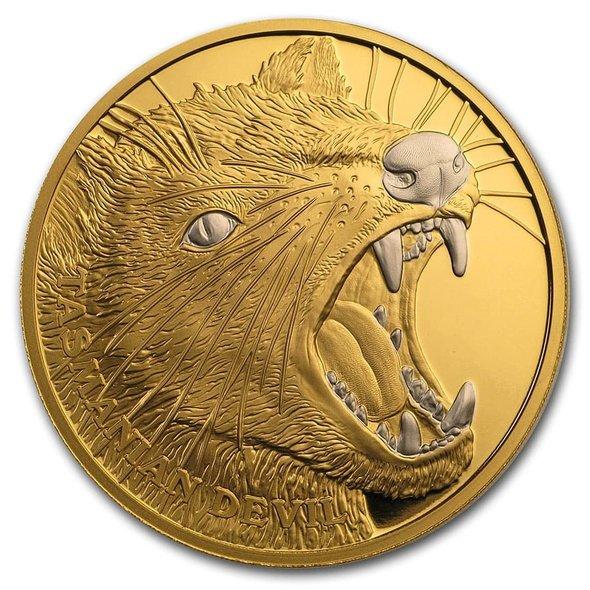 2020 ニウエ タスマニアデビル 100ドル金貨 1オンス プルーフ 箱とクリアケース付き 新品未使用
