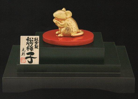純金製置物 松竹梅「子」 10グラム
