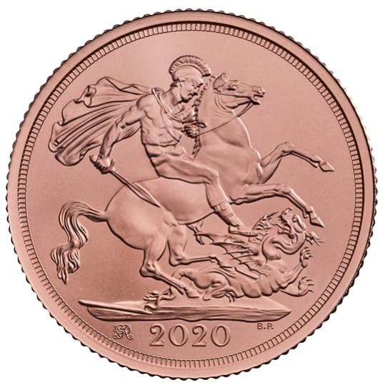 2020 イギリス ソブリン金貨 マット仕上げ 箱とクリアケース付き 新品未使用