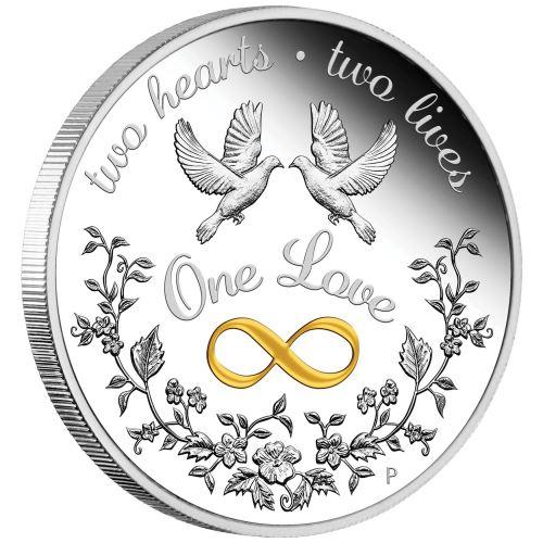 2020 オーストラリア 一つの愛 1ドル銀貨 1オンス プルーフ 箱とクリアケース付き 新品未使用
