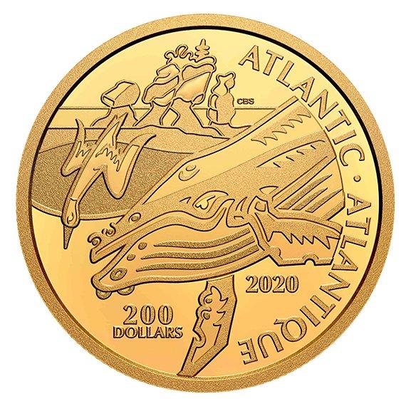2020 カナダ カナダ沿岸の象徴:大西洋 99.999%金貨 1オンス プルーフ 箱とクリアケース付き 新品未使用